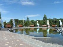 Взгляд парка в городе стоковые фото