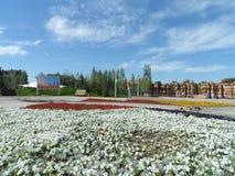 Взгляд парка в городе стоковое изображение rf