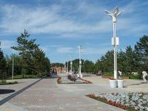 Взгляд парка в городе стоковое фото rf