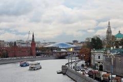 Взгляд парка Москвы Кремля и Zaryadye Стоковые Фото