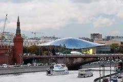 Взгляд парка Москвы Кремля и Zaryadye Стоковая Фотография RF