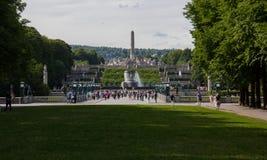 Взгляд парка Осло Frogner стоковая фотография rf