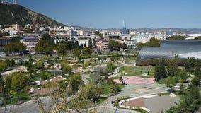 Взгляд парка Rike с коммунальной услугой Hall в Тбилиси, Georgia акции видеоматериалы