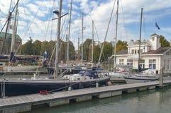 Взгляд паромного порта Veerhaven в центральном Роттердаме стоковые фотографии rf