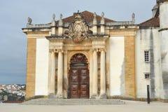 Взгляд патио университета Coimbra стоковое фото