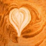взгляд пены кофе предпосылки Кофе капучино с пеной молока внутри слышит Стоковые Изображения