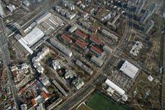 взгляд перспективы города птицы Стоковое Фото
