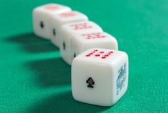 Взгляд перспективы или кость покера Стоковые Фотографии RF