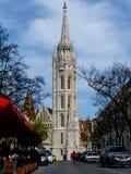 Взгляд перспективы церков Matthias в Будапеште стоковое фото rf