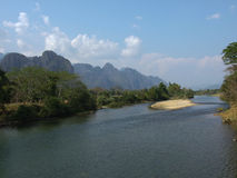взгляд песни реки nam Стоковое Фото