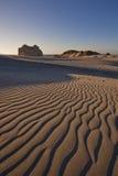 Взгляд песчанной дюны на пляже Wharariki, Новой Зеландии Стоковая Фотография