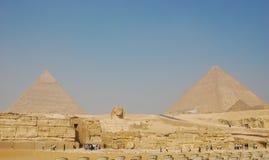 взгляд пирамидок Египета giza Стоковое Изображение