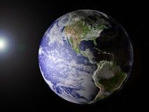 взгляд планеты земли америки Стоковое фото RF