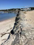 Взгляд пляжа воды Стоковое Изображение