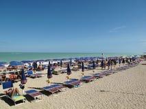 Взгляд пляжа в Numana стоковые фото