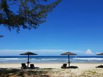 взгляд пляжа красивейший стоковые изображения