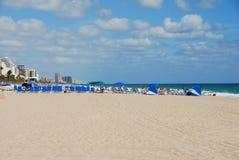 взгляд пляжа панорамный Стоковая Фотография RF