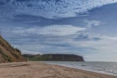 Взгляд пляжа Cabo Ledo anisette вышесказанного стоковые фотографии rf