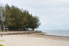 Взгляд пляжа Chanthaburi Lao Chao, Таиланда стоковая фотография rf