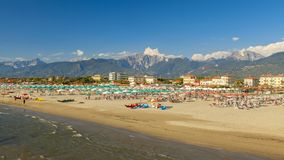 Взгляд пляжа di pietrasanta Марины стоковые фото