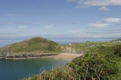 Взгляд пляжа Mwnt Стоковые Изображения