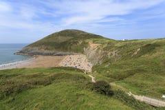 Взгляд пляжа Mwnt Стоковое Фото
