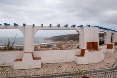 Взгляд пляжа Nazare стоковая фотография