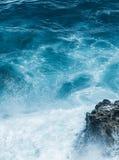 Взгляд побережья океана, идеальное перемещение и назначение праздника стоковое фото