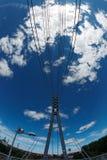 взгляд подвеса footbridge fisheye Стоковые Изображения RF