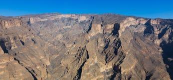 Взгляд подделок Jebel в Омане стоковое фото rf