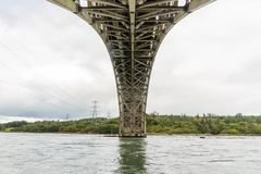 Взгляд под мостом Britannia снизу Стоковое Изображение RF