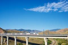 Взгляд поезда скорости стоковое изображение