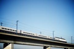 Взгляд поезда скорости стоковое фото