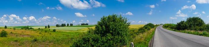 Взгляд поля ландшафта панорамы красивый стоковая фотография rf