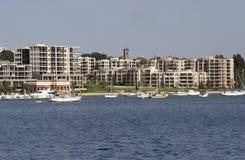 Взгляд портового района Стоковая Фотография RF