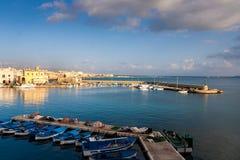 Взгляд портового района 2 Gallipoli стоковые изображения
