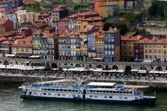 Взгляд Порту и реки Дуэро от Стоковые Фотографии RF