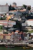 Взгляд Порту и реки Дуэро Стоковые Фото
