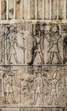 Взгляд предпосылки Египта винтажного стиля старый каменный высекая стоковые изображения