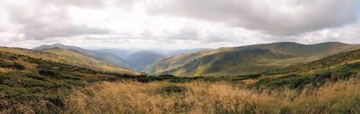 Взгляд прикарпатских гор Dragobrat Украина панорамно стоковые изображения rf