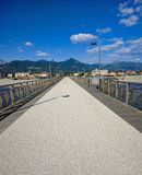 Взгляд пристани Марины di Pietrasanta стоковая фотография rf