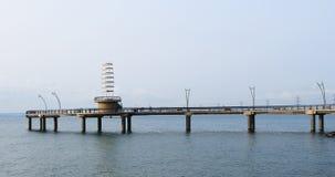 Взгляд пристани Burlington, Канады на пасмурный день 4K сток-видео