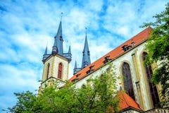 Взгляд приходской церкви Святого Антония здания Падуи в Праге Стоковое Изображение RF