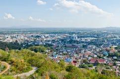 Взгляд птицы города Nakhonsawan Стоковые Фотографии RF