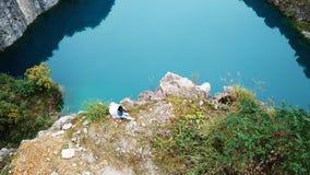 Взгляд птицы естественных парка и человека шахты Стоковая Фотография RF