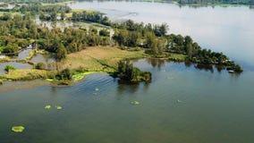 Взгляд птицы озера Qionghai в ¼ ŒChina Xichangï Стоковые Фотографии RF