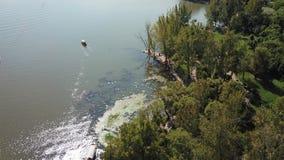 Взгляд птицы озера Qionghai в ¼ ŒChina Xichangï Стоковое Изображение RF