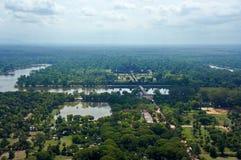 Взгляд птицы Angkor Wat Стоковые Изображения