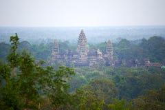 Взгляд птицы Angkor Wat Стоковая Фотография RF