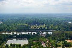 Взгляд птицы Angkor Wat Стоковое Изображение